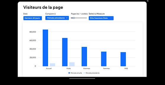 Le rapport des visites par page dans Wix
