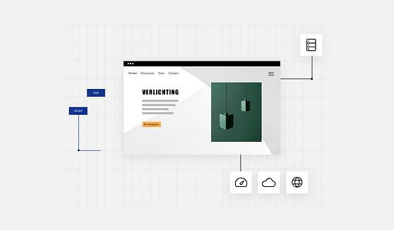 Website voor interieur verlichting design