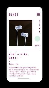 eCommerce website for high-end headphones showcased on mobile.