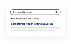 Google resultaten voor een zoekopdracht naar 'keramische vazen'