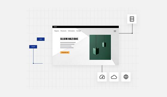 Sito web di design d'illuminazione d'interni