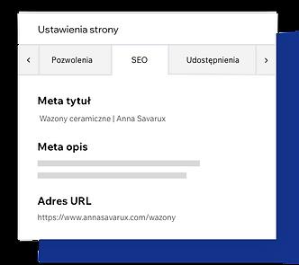 Ustawienia strony SEO, dostosowywanie metatagów strony