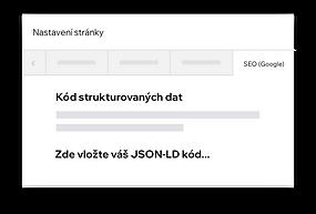 Přizpůsobení strukturovaných dat na Wix webu pomocí JSON-LD kódu
