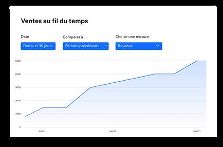 Rapport des ventes totales dans Wix Anal