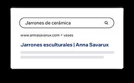 """Resultados de Google para una búsqueda de """"jarrones de cerámica""""."""