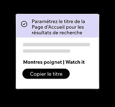 Wix SEO Wiz, outil de paramétrage SEO pour votre page d'accueil