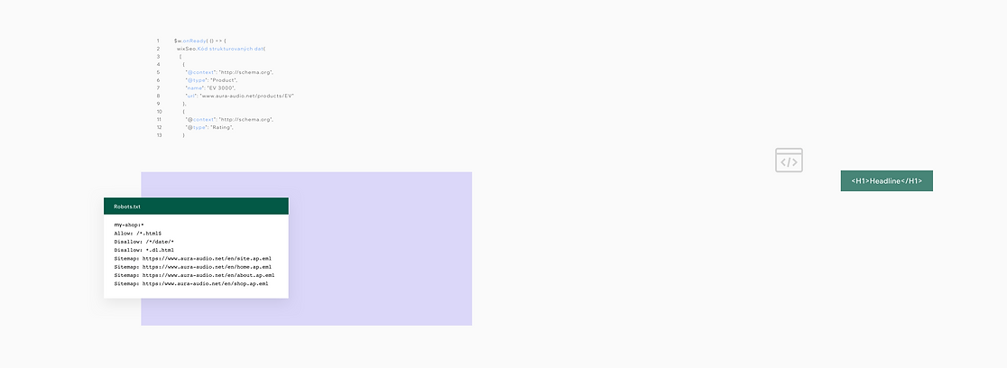Zabudované SEO funkce na Wix webových stránkách