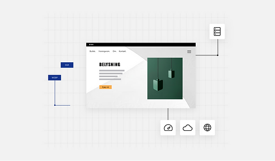 Designernettside for innendørs belysning