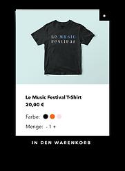 Onlineshop für Merchandise eines Festivals.