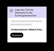 Wix SEO-Wiz, das Einstellen von SEO-Titeln für Ihre Homepage