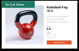 """"""" En çok satan bir ürün, bu örnekte 4 kg"""