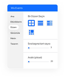 Editörde bulunan ve etkinliklerinizin sitenizde nasıl göründüğünü düzenlemenizi sağlayan araç.