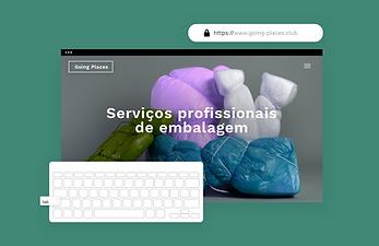 Um site de embalagens apresentando recursos integrados que permitem criar funções e permissões para membros da equipe, hospedagem segura e alt text para imagem, o que torna seu site acessível para todos.