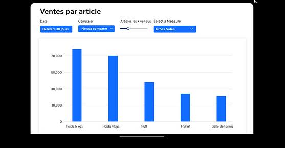 Un rapport de ventes par article dans Wi