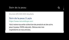 Page d'accueil d'un site web d'une marque de cosmétique qui affiche des articles à vendre.