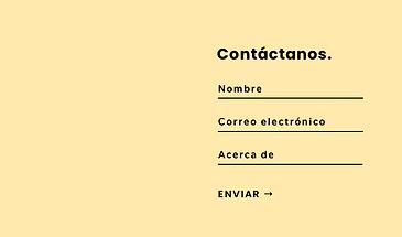 Formulario de contacto.