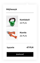 Strona Wix z wbudowanym sklepem i produk