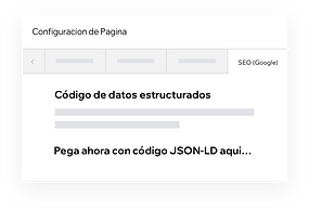 Personalización de datos estructurados en tu sitio Wix con código JSON-LD.