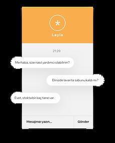 Ürün envanteri hakkında Wix Chat canlı sohbet kullanarak müşteri hizmetleri sunan güzellik markası web sitesi.