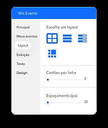 Ferramenta no Editor que permite editar como seus eventos são exibidos em seu site.