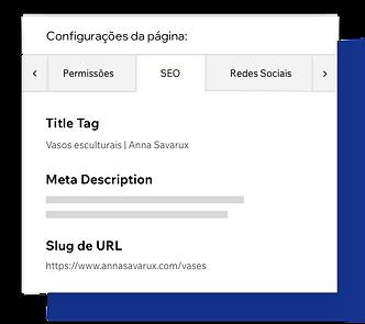 Configuración de SEO de la página, personalización de las meta etiquetas de la página