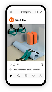 Konto na Instagramie marki fitness na te