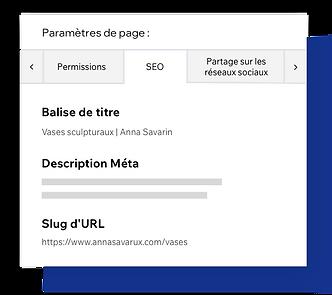 Paramètres de page SEO, balises méta de personnalisation de page