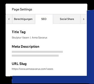 SEO Website Einstellungen, Meta-Tags ändern