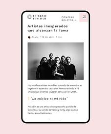 Un sitio web creado para un festival de música siendo editado con el Editor de Wix.