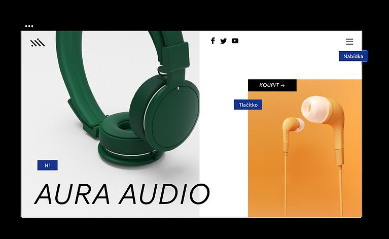 Webové stránky se sluchátky