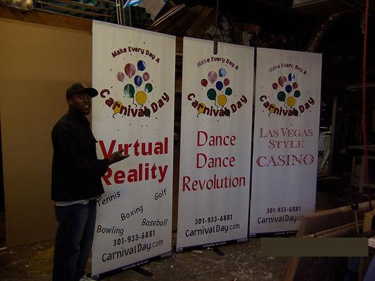 Rockville Banners, Rockville Banner Stands.