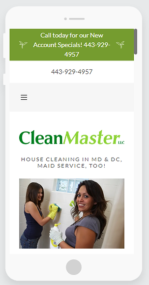 CleanMaster Web Site Creation