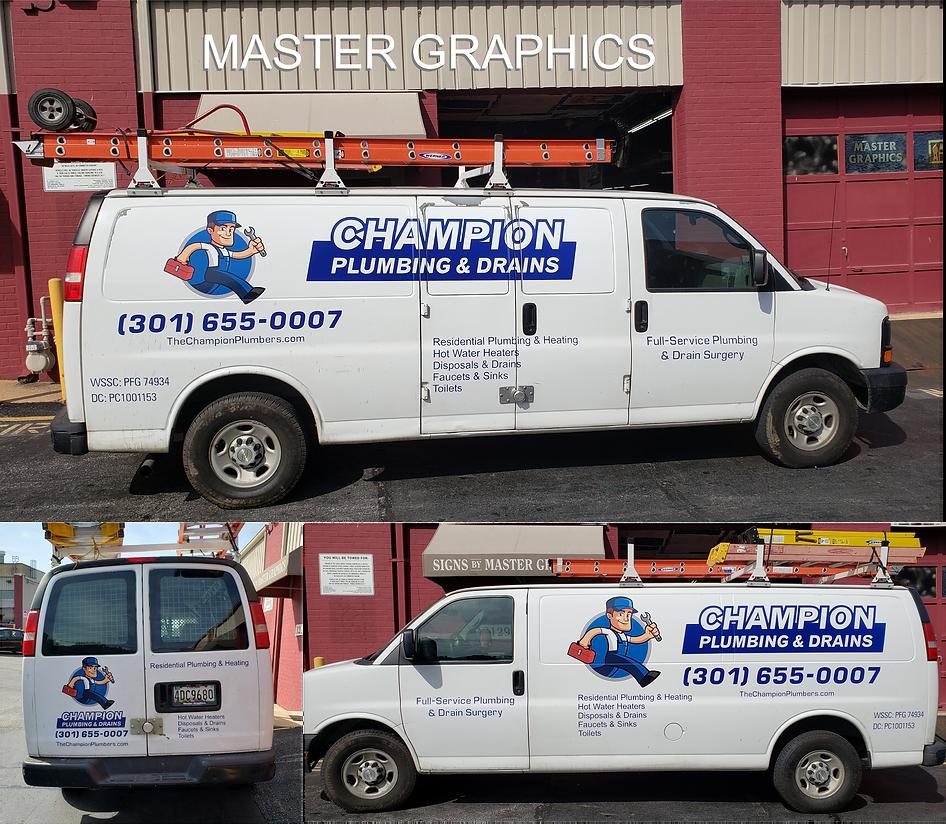 Rockville Van lettering, Champion Plumbing