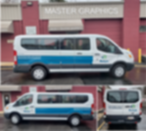 Passenger Van Lettering in Rockville, MD for Rolyn Companies