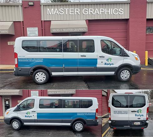 Passenger Van Lettering in Rockville, MD for Rolyn Companies
