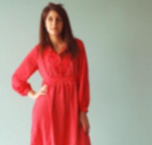 Rotes Polka-Punkt-Kleid