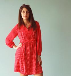 Bolinhas vermelhas Vestido