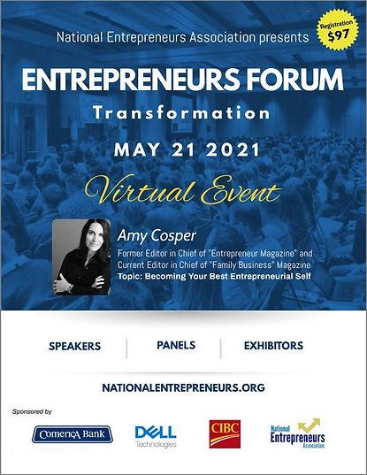 2021 Entrepreneurs Forum Transformation
