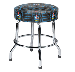 Pac-Man Bar Stool, Short 19in with Chrom