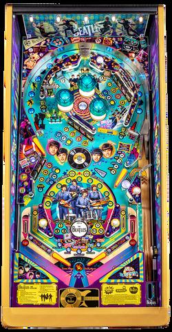 Beatles-Pinball-Machine-Gold-Playfield