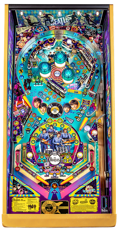 Beatles-Pinball-Machine-Gold-Playfield.p