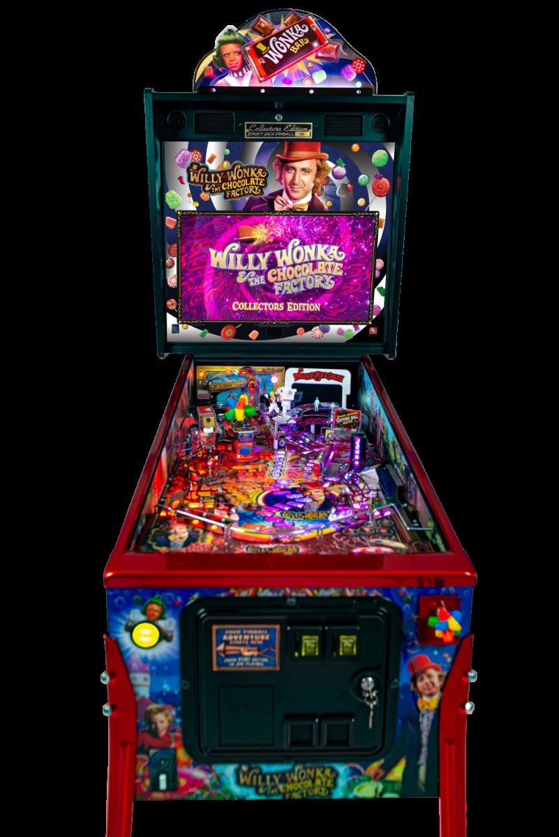 Willy Wonka Pinball Machine Cabinet Fron