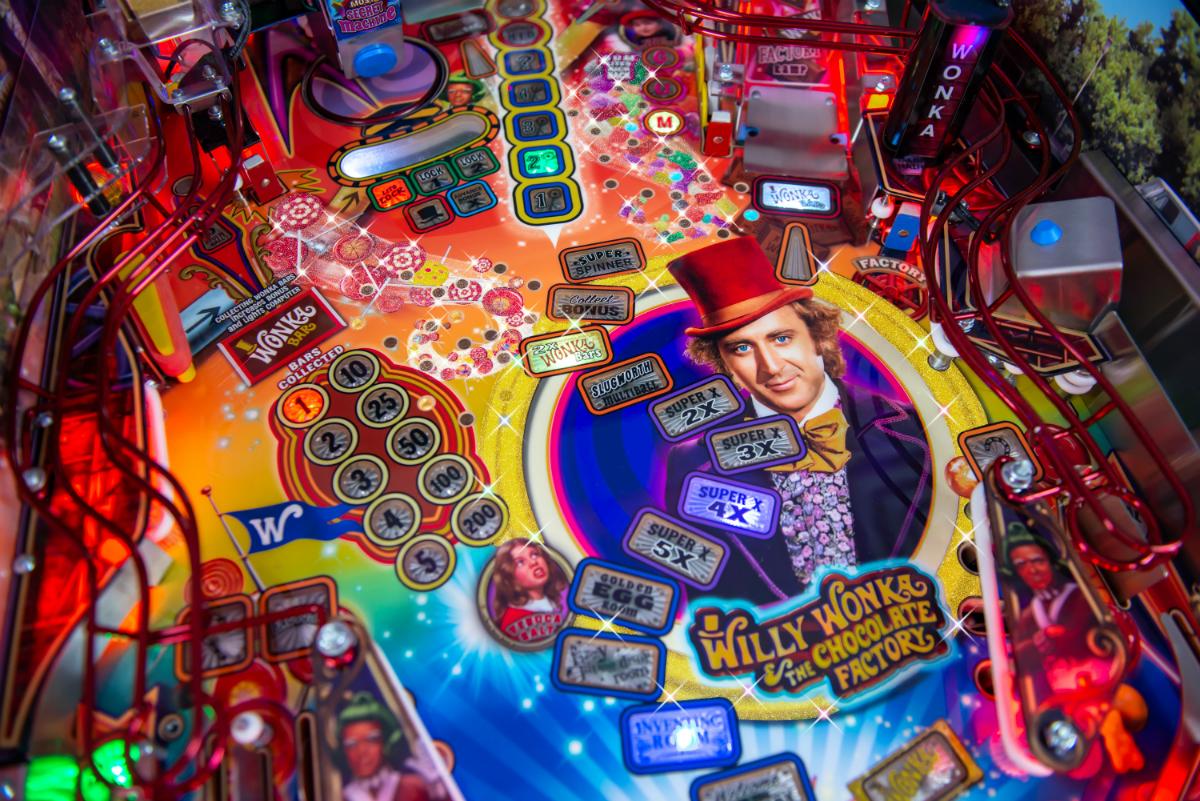 Willy Wonka Pinball Machine Playfield 1.