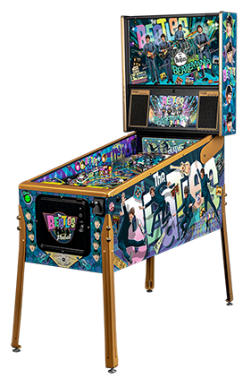 Beatles-Pinball-Machine-Gold-Cabinet-LF.