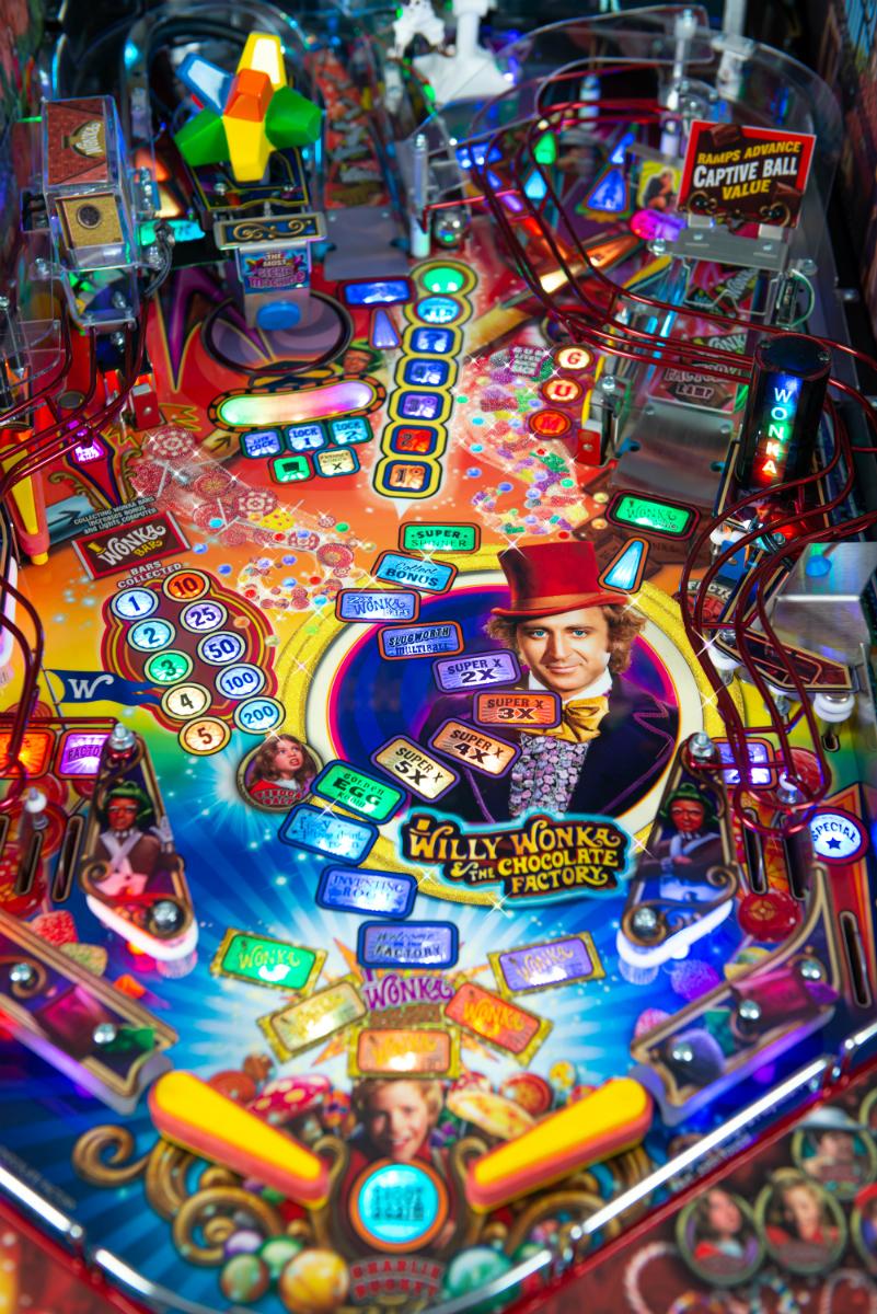 Willy Wonka Pinball Machine Playfield 3.