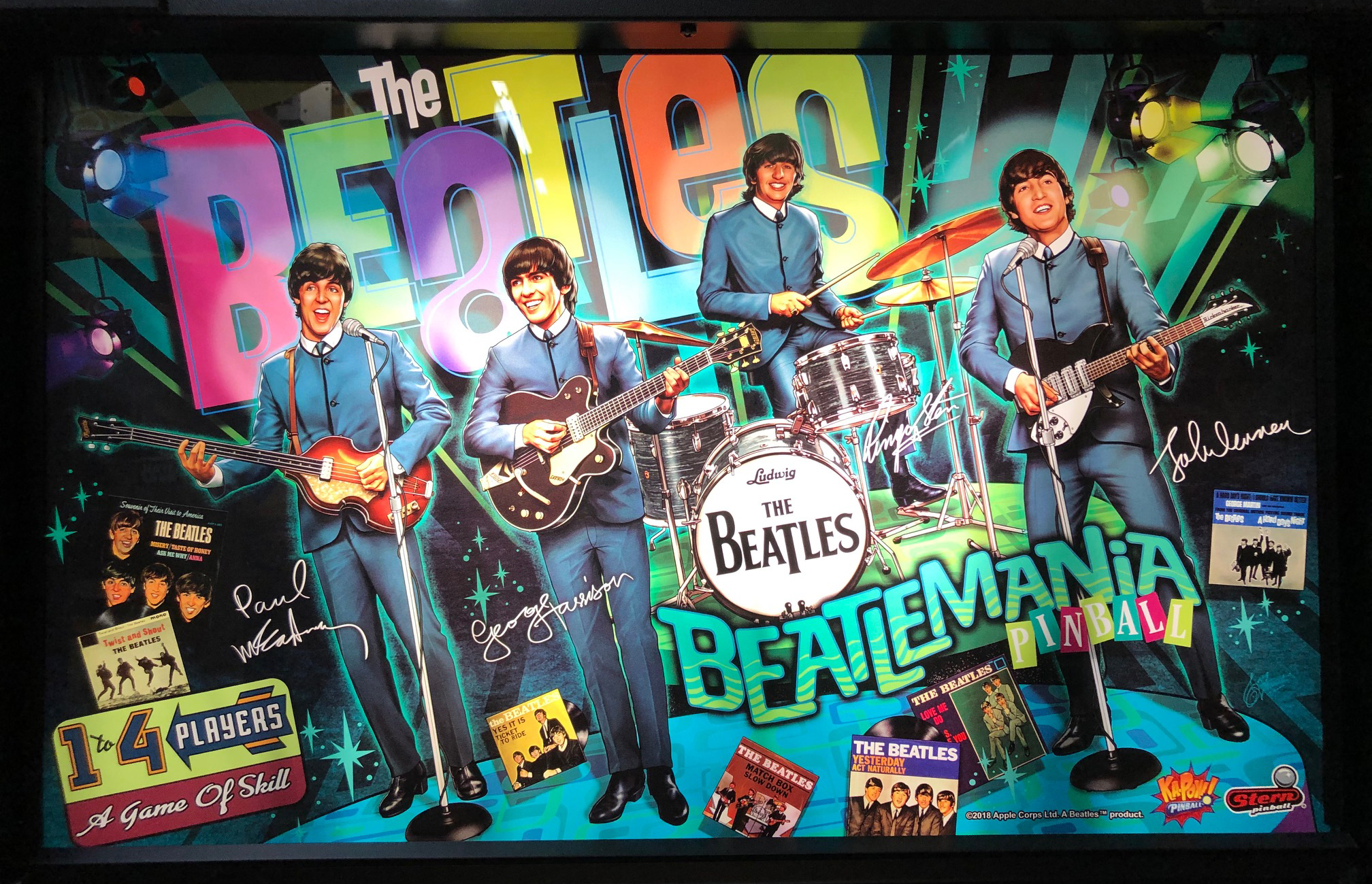 Beatles-Pinball-Machine-Backglass