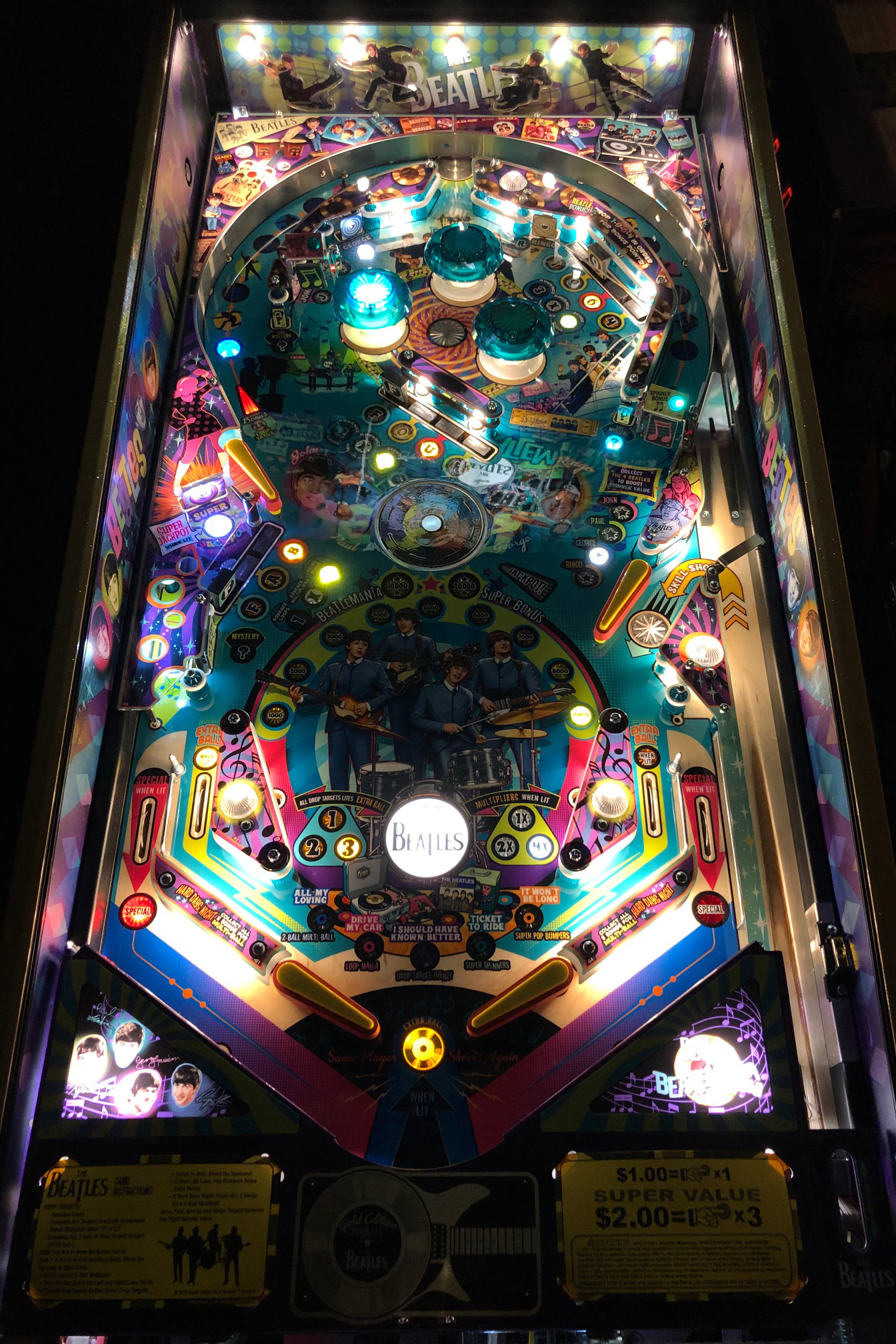 Beatles-Pinball-Machine-Playfield-2