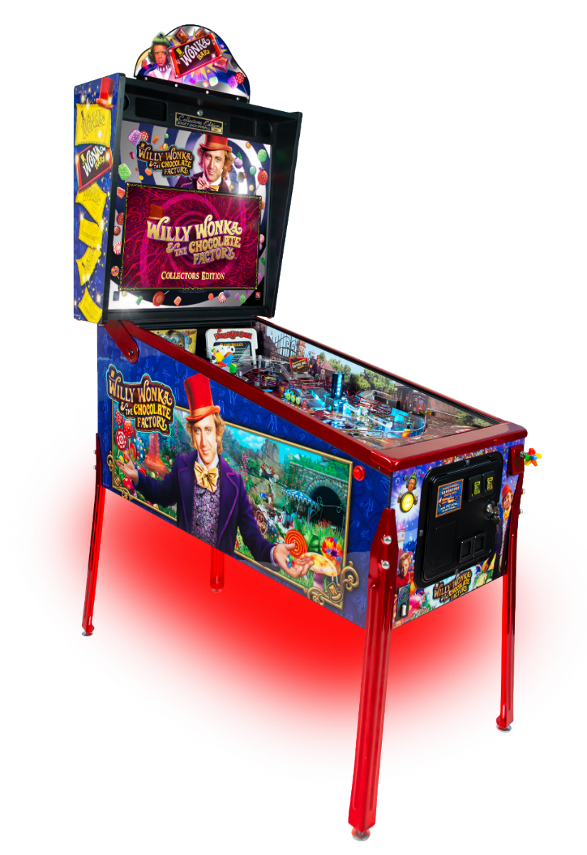 Willy Wonka Pinball Machine Cabinet Side