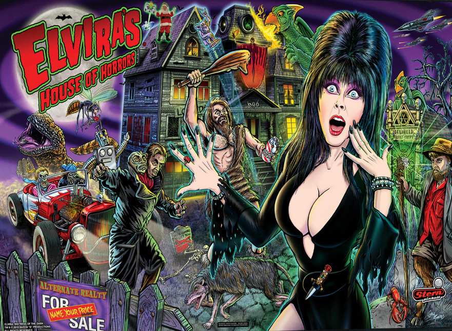 Stern-Pinball-Elvira-Premium-Backglass