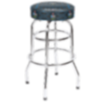 Pac-Man Bar Stool, Tall 30in with Chrome
